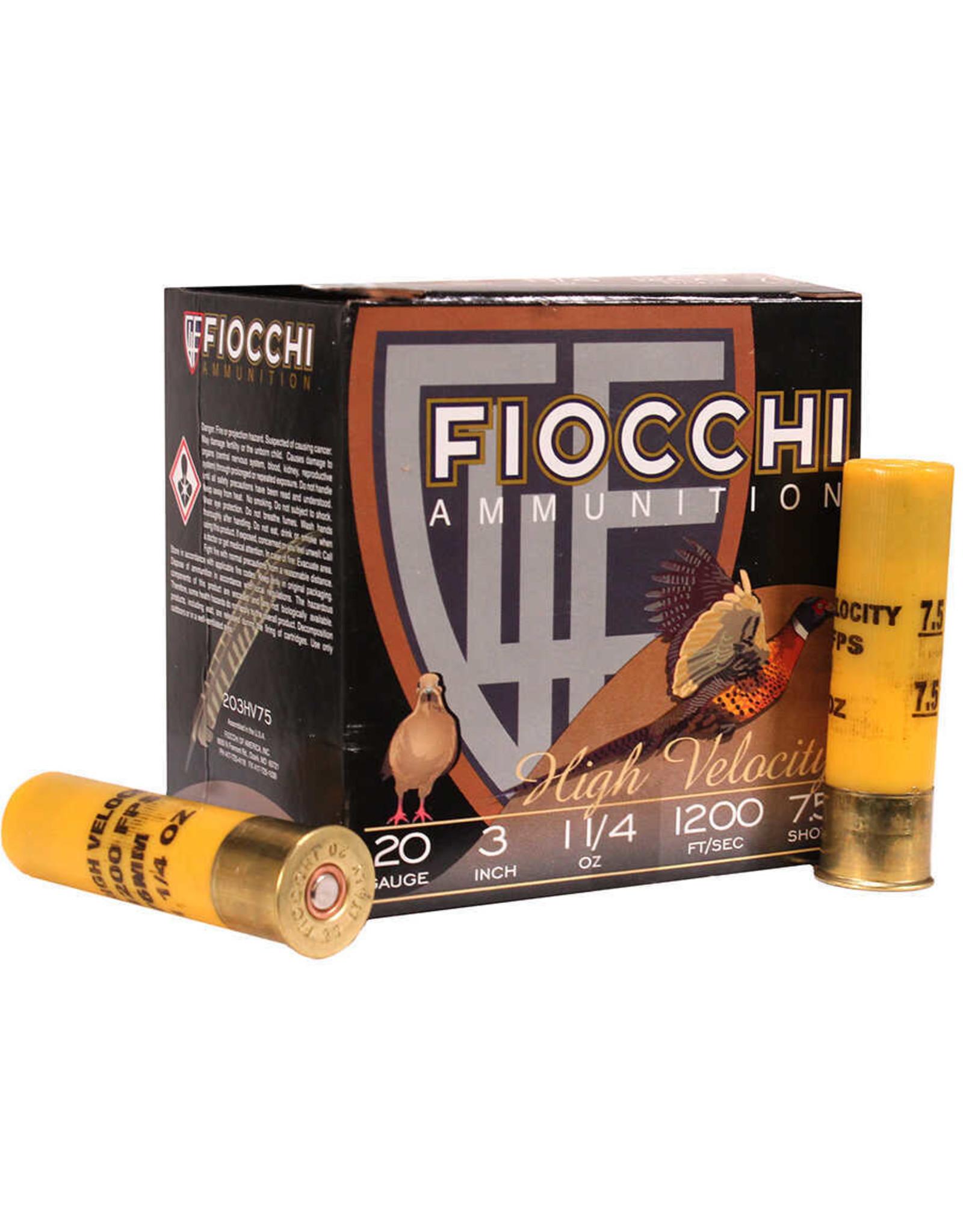 """Fiocchi Fiocchi - 20ga HV 3"""" 1-1/4oz - #7.5 - 25ct"""