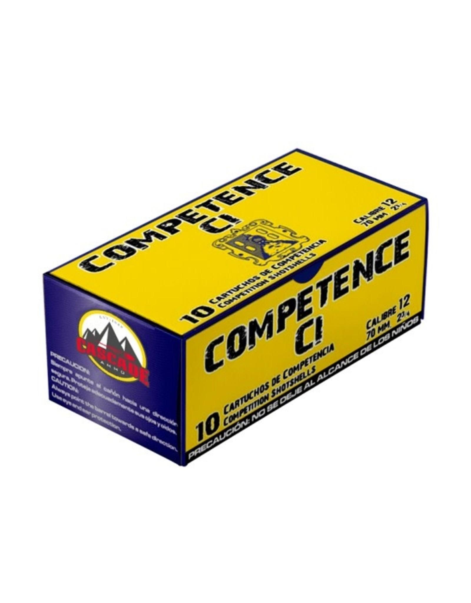 "Cascade Ammo Cascade - 12ga Competence 2-3/4"" 1-1/4oz - #8 - 10ct"
