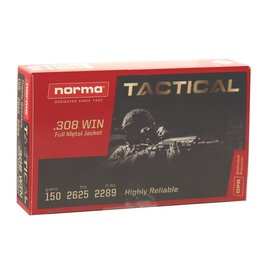 Norma Norma - 308 Win - 150gr FMJ Tactical - 20ct