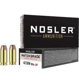 Nosler Nosler - 40 S&W - 180gr Match JHP - 50ct