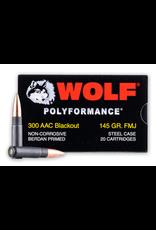Wolf Wolf - 300 Blackout - 145gr FMJ Polyformance - 20ct