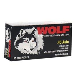 Wolf Wolf - 45 ACP - 230gr FMJ Polyformance - 50ct