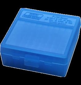 MTM Case Gard MTM Pistol Case - Blue Flip Top - 38/357 - 100rd