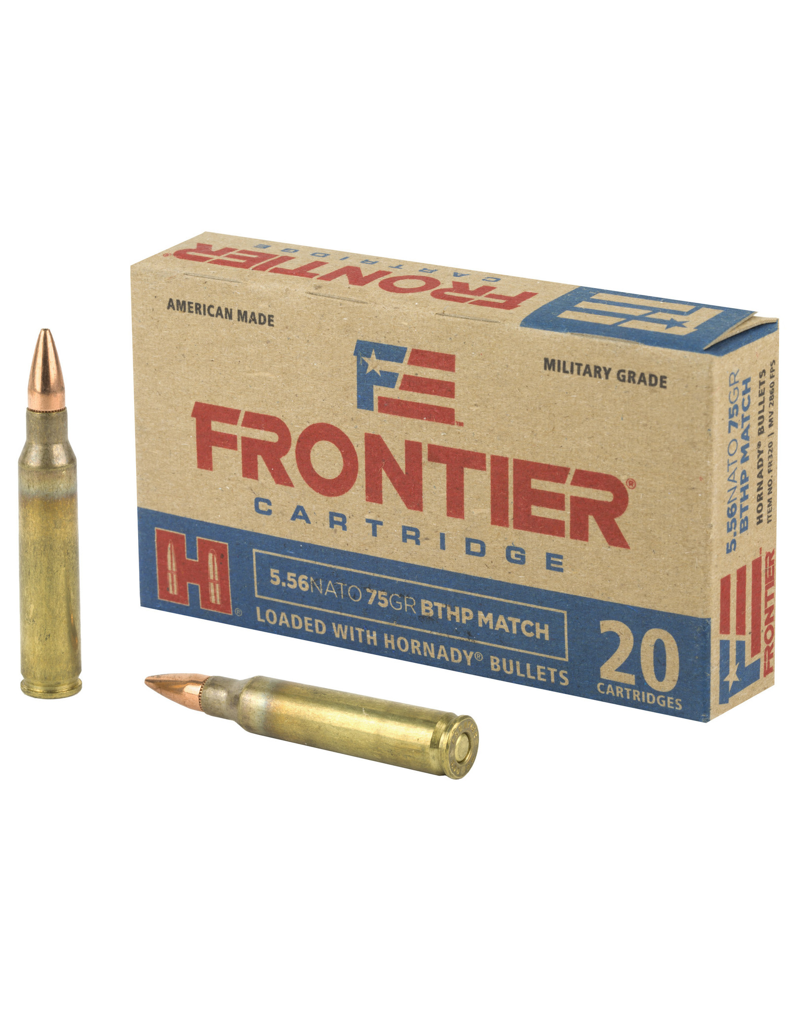 Frontier Cartridge Frontier - 5.56mm - 75gr BTHP Match - 20ct