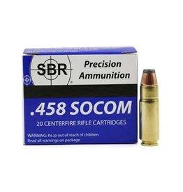 SBR Ammo SBR Ammo - 458 Socom - 300gr JHP - 20 count