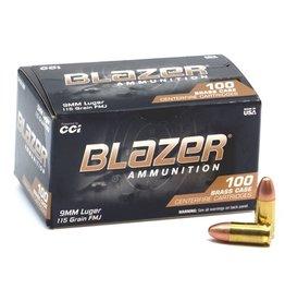 CCI CCI - 9mm - 115gr Blazer Brass - 100ct