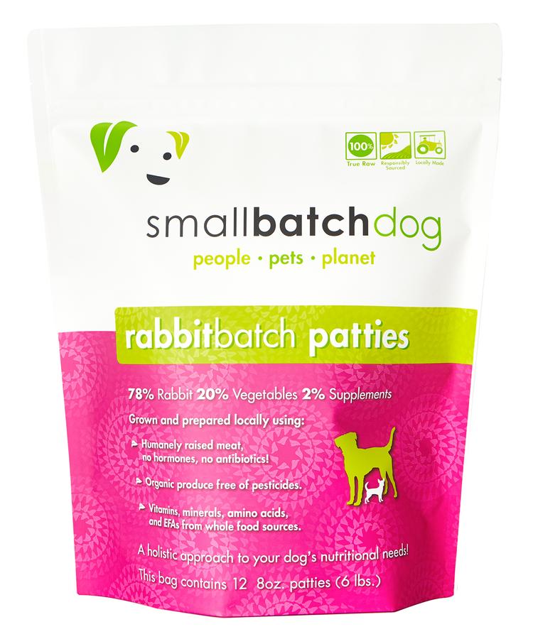 SmallBatch SmallBatch Frozen Raw Dog Food Rabbit 6# Patties
