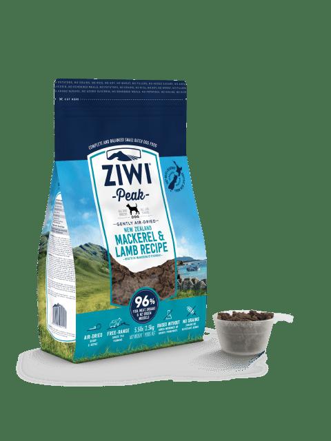 Ziwipeak Gently Air-Dried Grain Free Dog Food Mackerel & Lamb