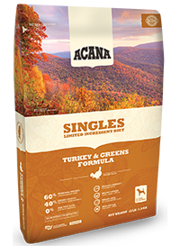 Champion (Orijen & Acana) Champion Acana Kibble Grain Free Dog Food Singles Turkey & Greens
