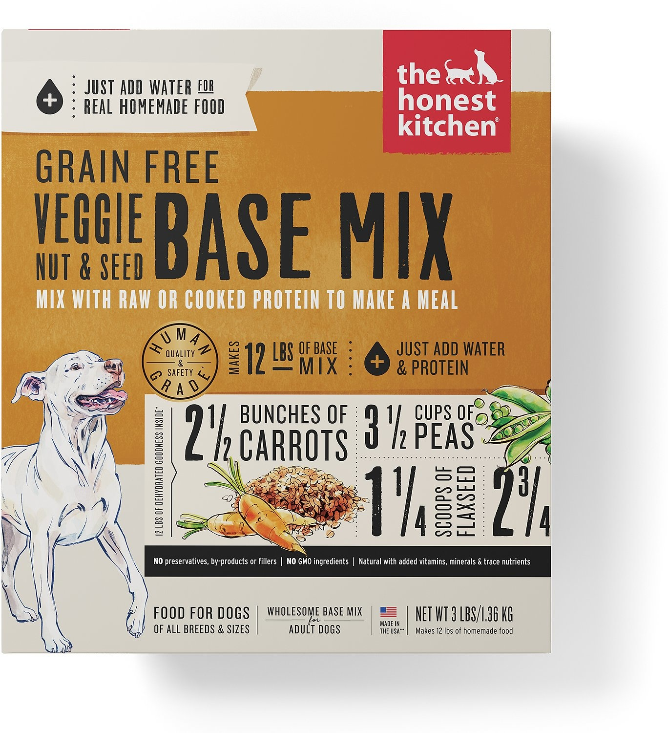 Honest Kitchen Honest Kitchen Gently Dehydrated Grain Free Dog Veggie, Nut & Seed Kindly