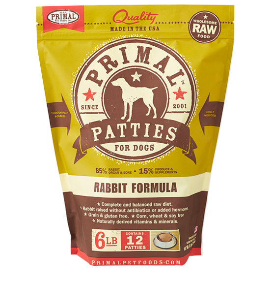 Primal Frozen Raw Dog Food Rabbit