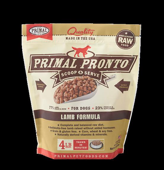 Primal Frozen Raw Dog Food Lamb