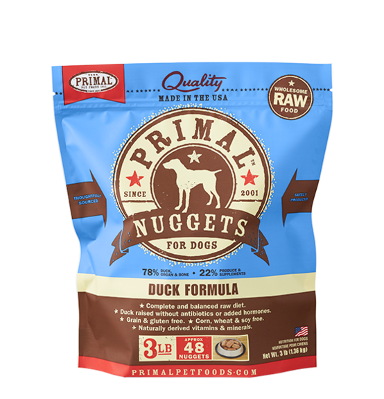 Primal Frozen Raw Dog Food Duck