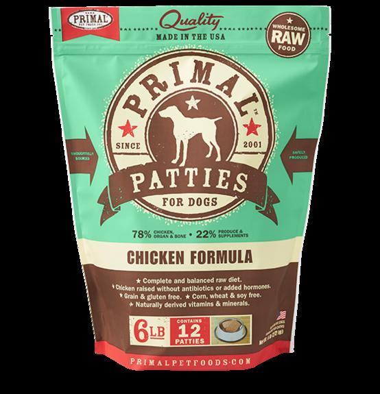 Primal Frozen Raw Dog Food Chicken