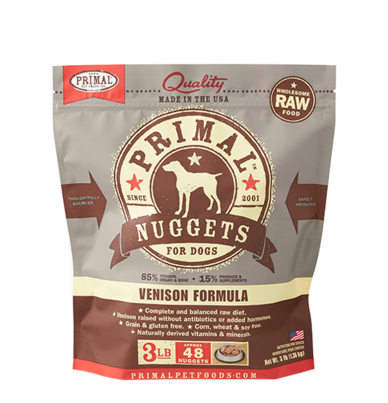 Primal Frozen Raw Dog Food Venison