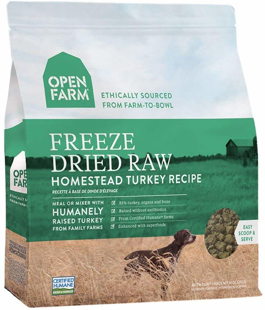 Open Farm Open Farms Freeze Dried Dog Food Homestead Turkey 13.5oz