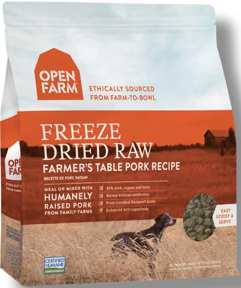 Open Farm Open Farms Freeze Dried Dog Food Farmers Pork Open Farms Freeze Dried Dog Food Farmers Pork 13.5oz