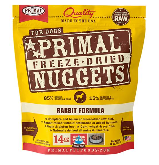 Primal Freeze Dried Dog Food Rabbit