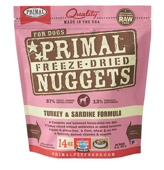 Primal Freeze Dried Dog Food Turkey & Sardine