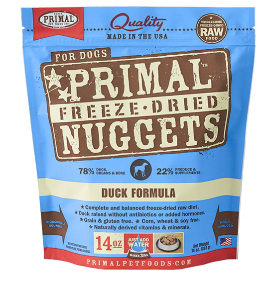 Primal Freeze Dried Dog Food Duck