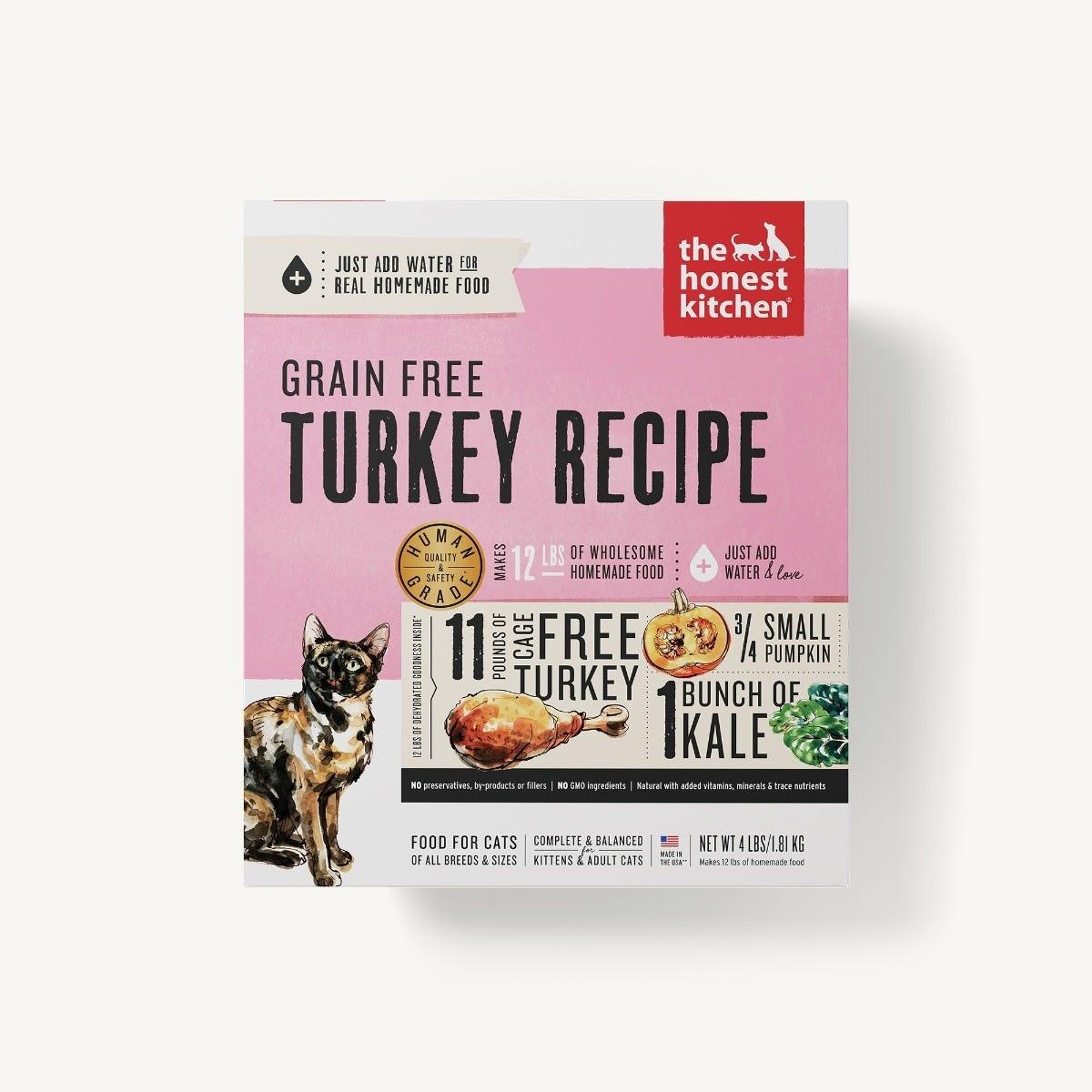 Honest Kitchen Honest Kitchen Gently Dehydrated Grain Free Cat Turkey Grace (Adult & Kitten)