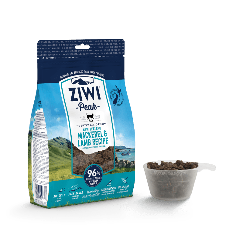 Ziwipeak Gently Air-Dried Grain Free Cat Food Mackeral & Lamb 14oz