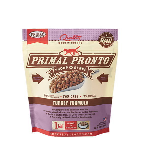 Primal Frozen Raw Cat Food Turkey