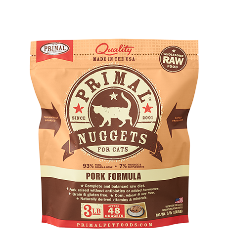 Primal Frozen Raw Cat Food Pork