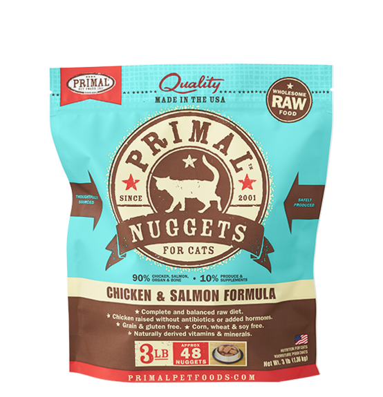 Primal Frozen Raw Cat Food Chicken & Salmon