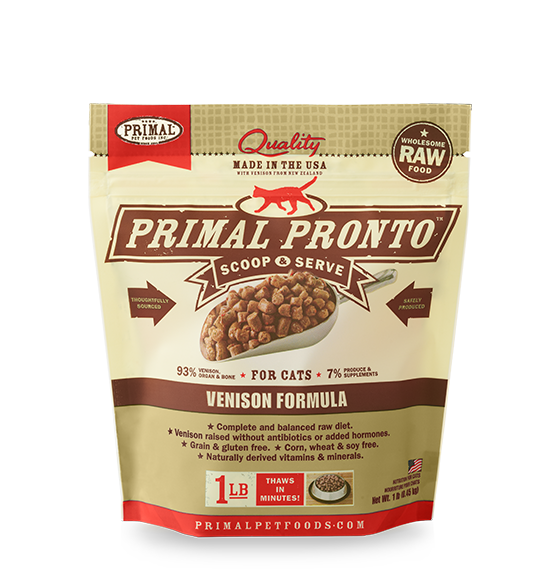 Primal Frozen Raw Cat Food Venison