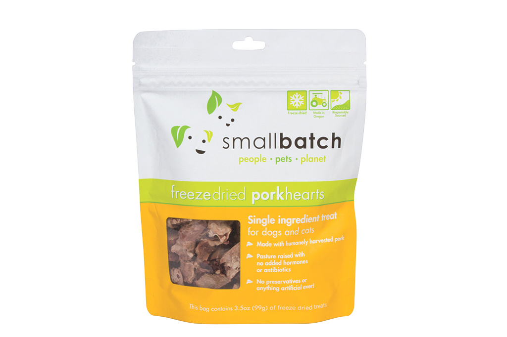SmallBatch Smallbatch Treat Freeze Dried Dog Pork Hearts 3.5oz