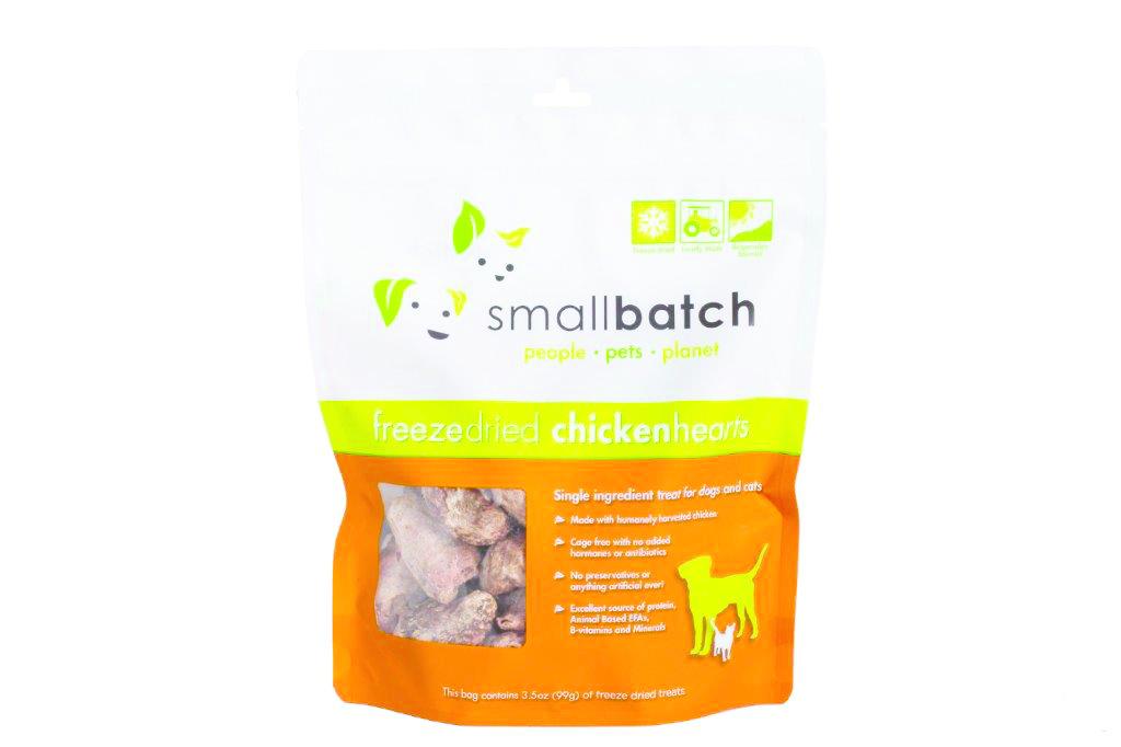SmallBatch Smallbatch Treat Freeze Dried Dog Chicken Hearts 3.5oz