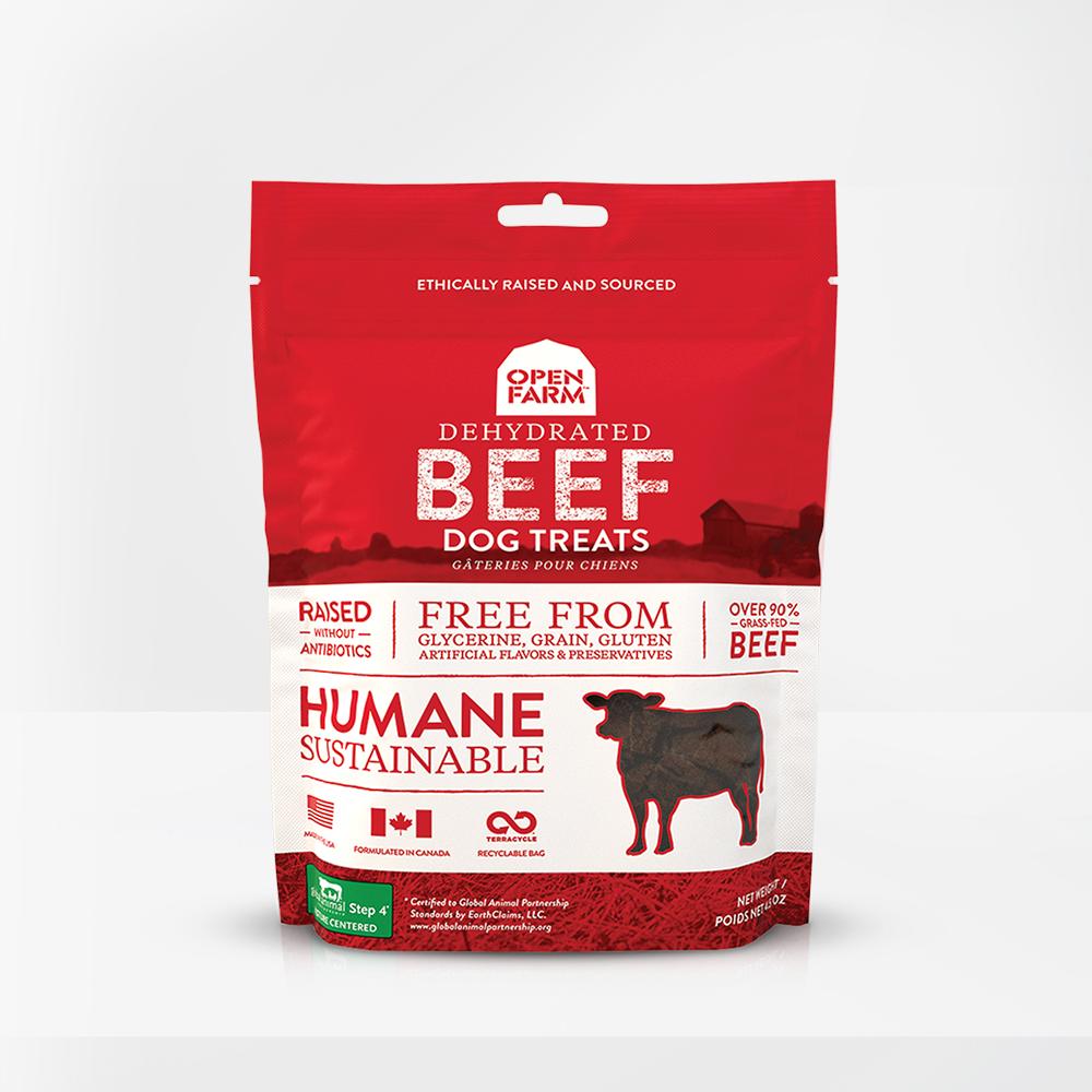 Open Farm Open Farms Treat Dehydrated Dog Beef 4.5oz
