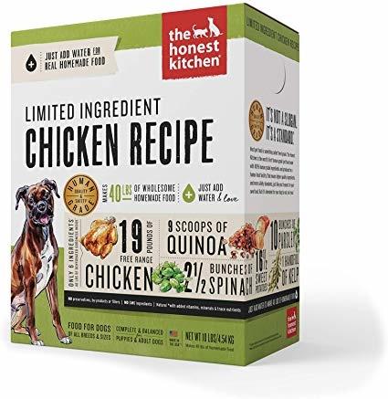 Honest Kitchen Honest Kitchen Gently Dehydrated Limited Dog Chicken Thrive