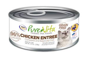 KLN (Pure Vita & NutriSource) KLN Pure Vita Cat Food Can Grain Free 96% Chicken
