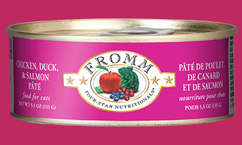 Fromm Fromm Cat Food Can Grain Free Pate Chicken, Duck & Salmon