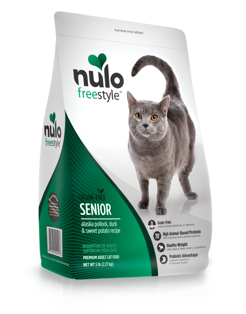 Nulo Nulo Freestyle Kibble Grain Free Cat Food Senior Duck 5#