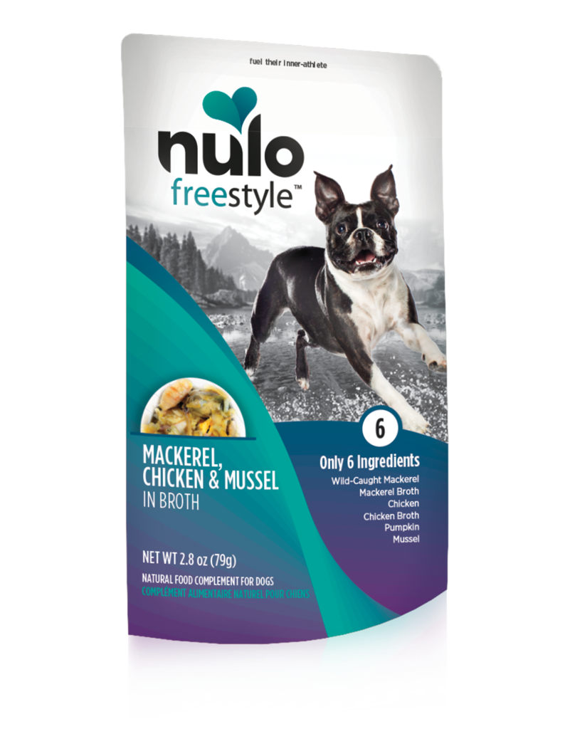 Nulo Nulo Freestyle Dog Food Pouch Grain Free Mackerel Chicken Mussel