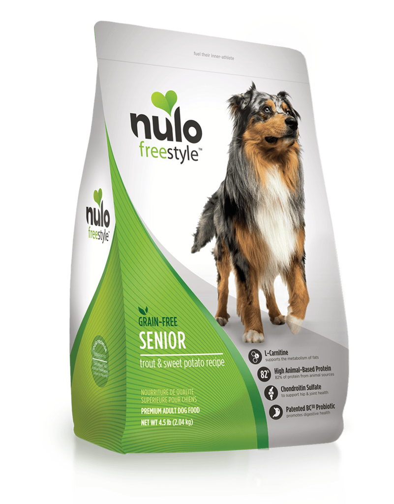 Nulo Nulo Freestyle Kibble Grain Free Dog Food Senior Trout