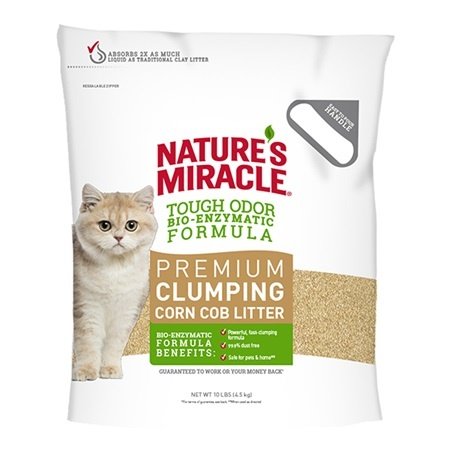 Nature's Miracle Cat Litter Premium Corn Cob Clumping