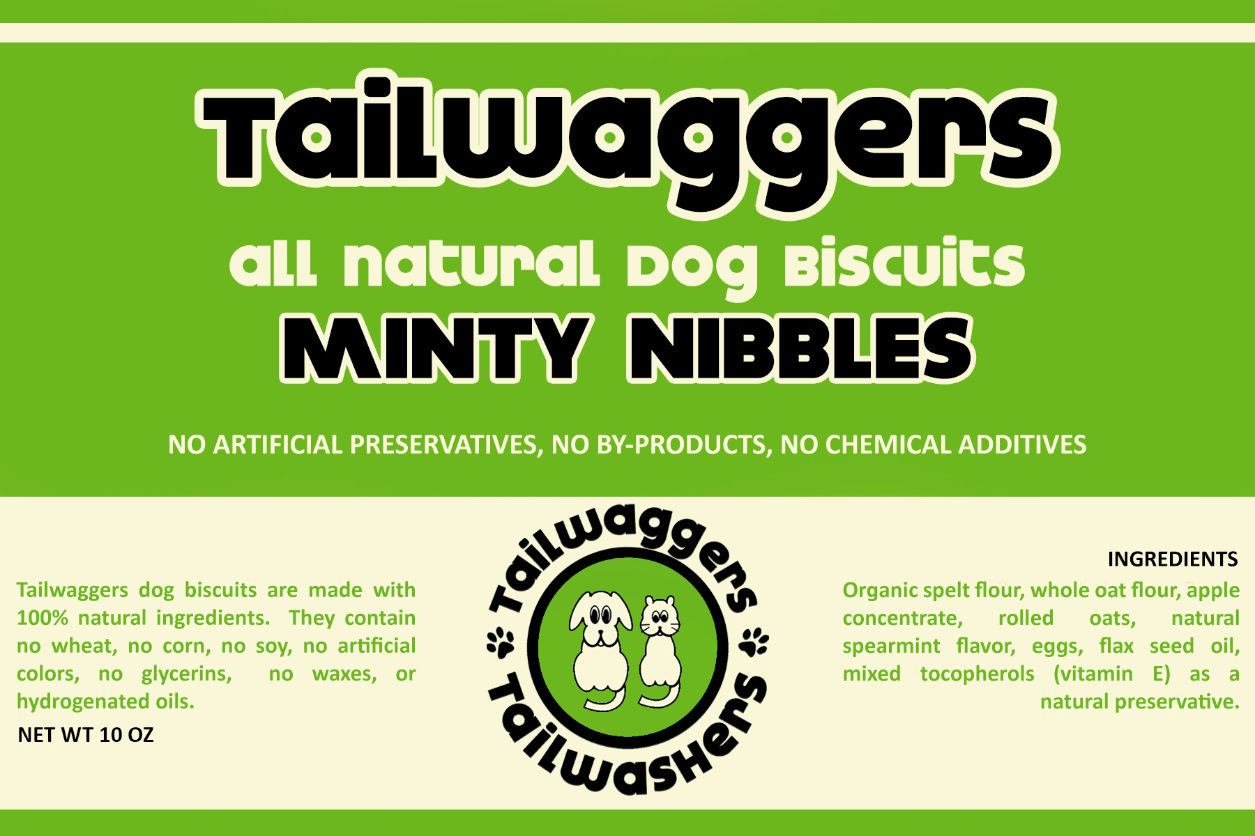 Tailwaggers Tailwaggers Biscuit Treat Minty Nibbles 10oz