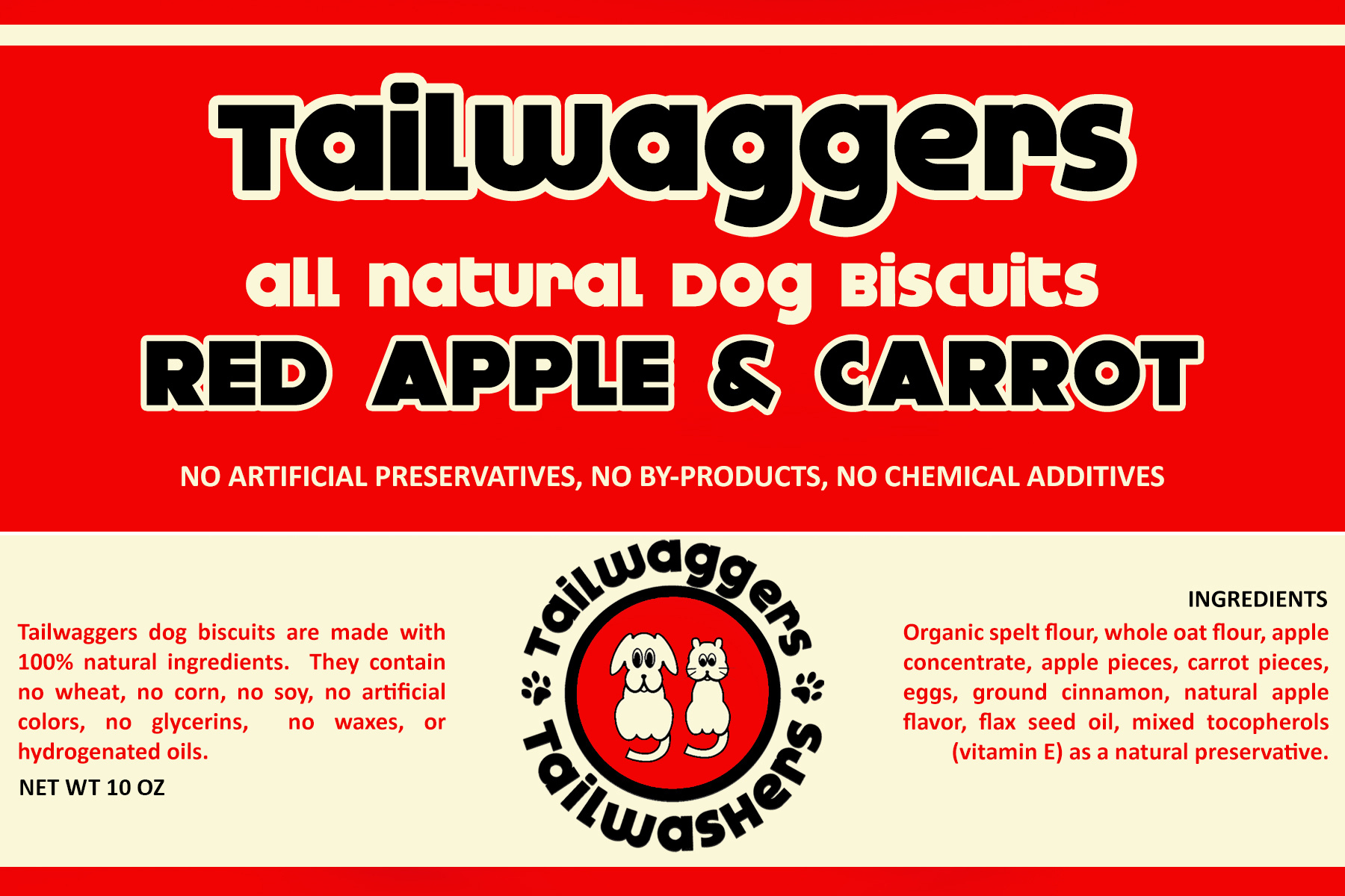 Tailwaggers Tailwaggers Biscuit Treat Apple Carrot Cake 10oz