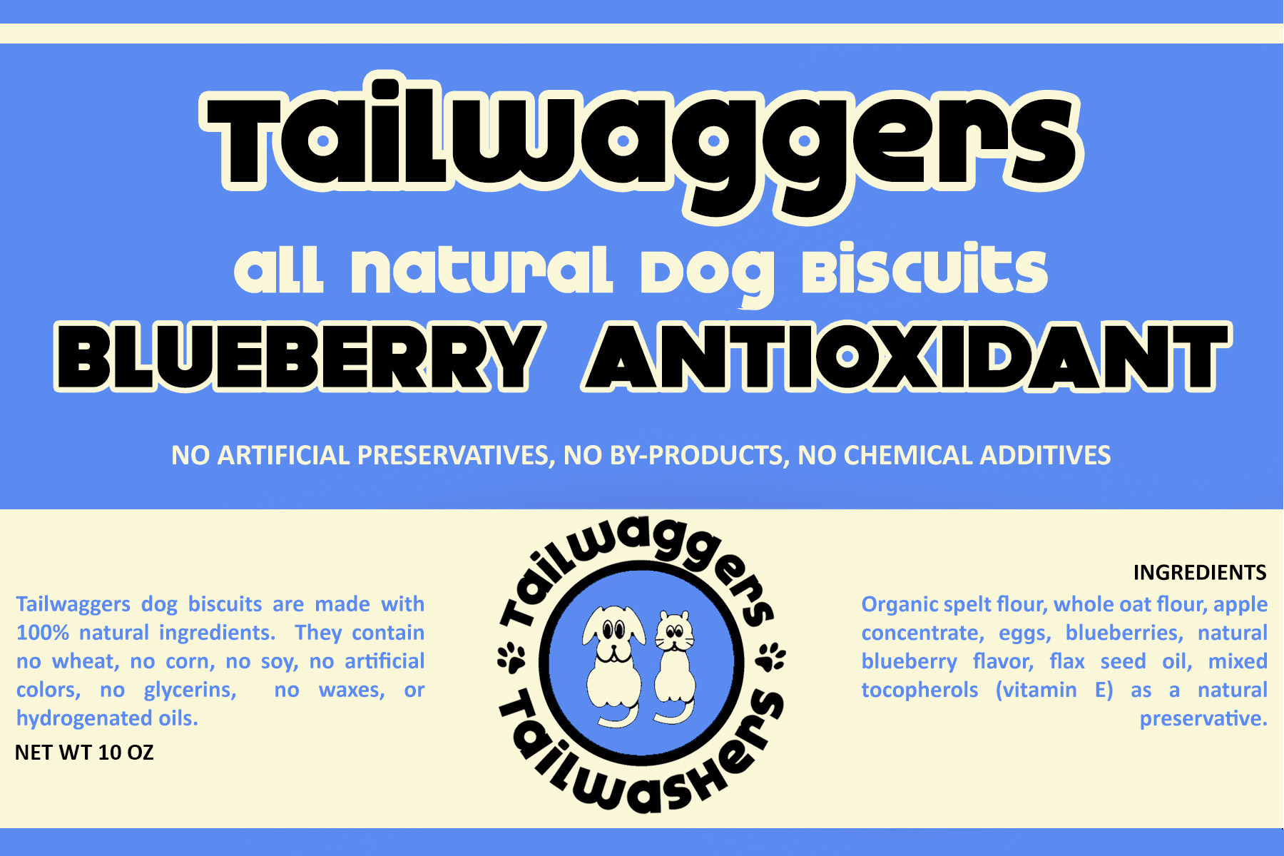 Tailwaggers Tailwaggers Biscuit Treat Blueberry Antioxidant 10oz