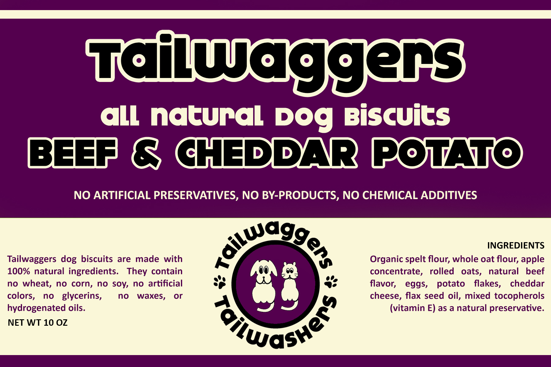 Tailwaggers Tailwaggers Biscuit Treat  Beef & Vegetable 10oz