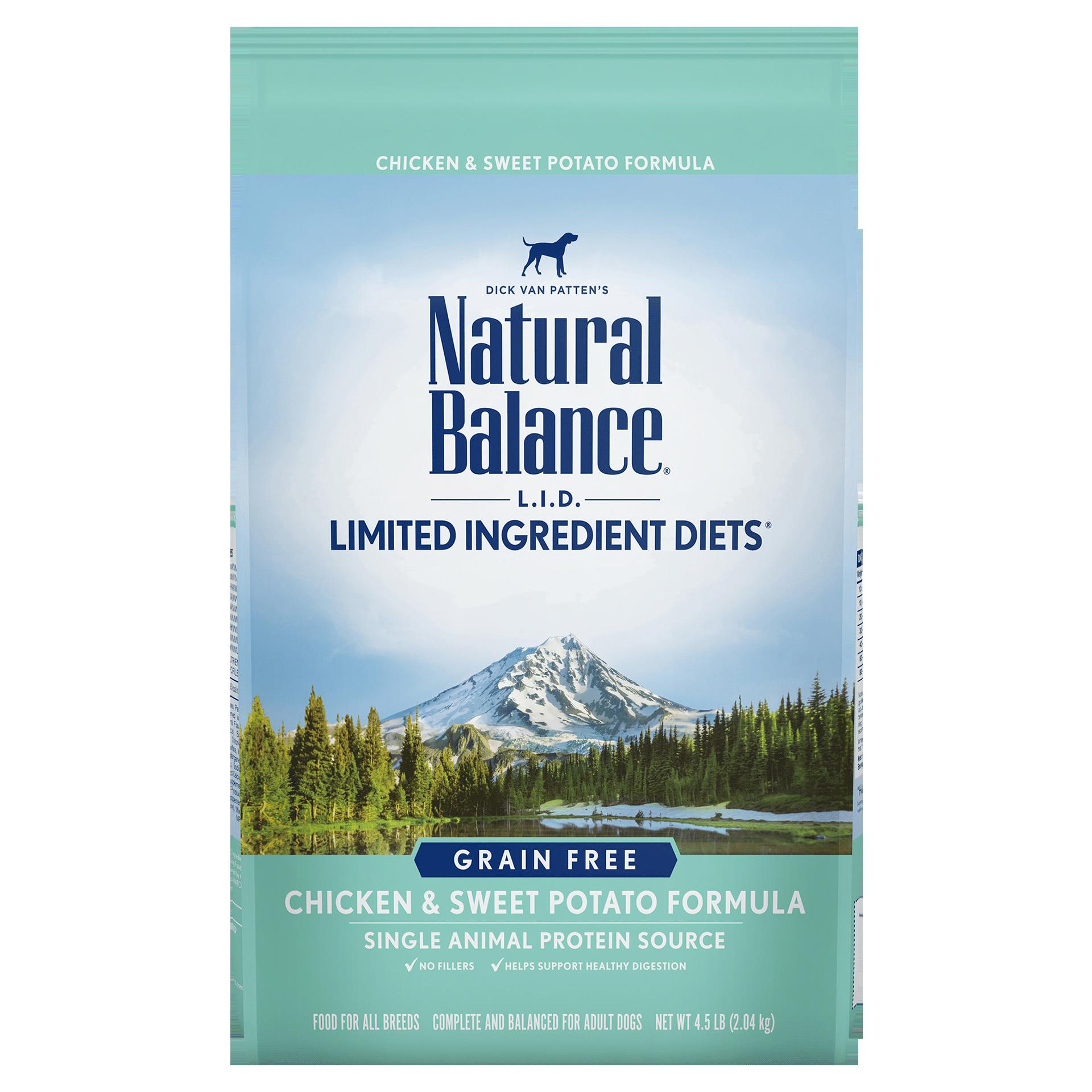 Natural Balance Kibble Grain Free Dog Food LID Chicken