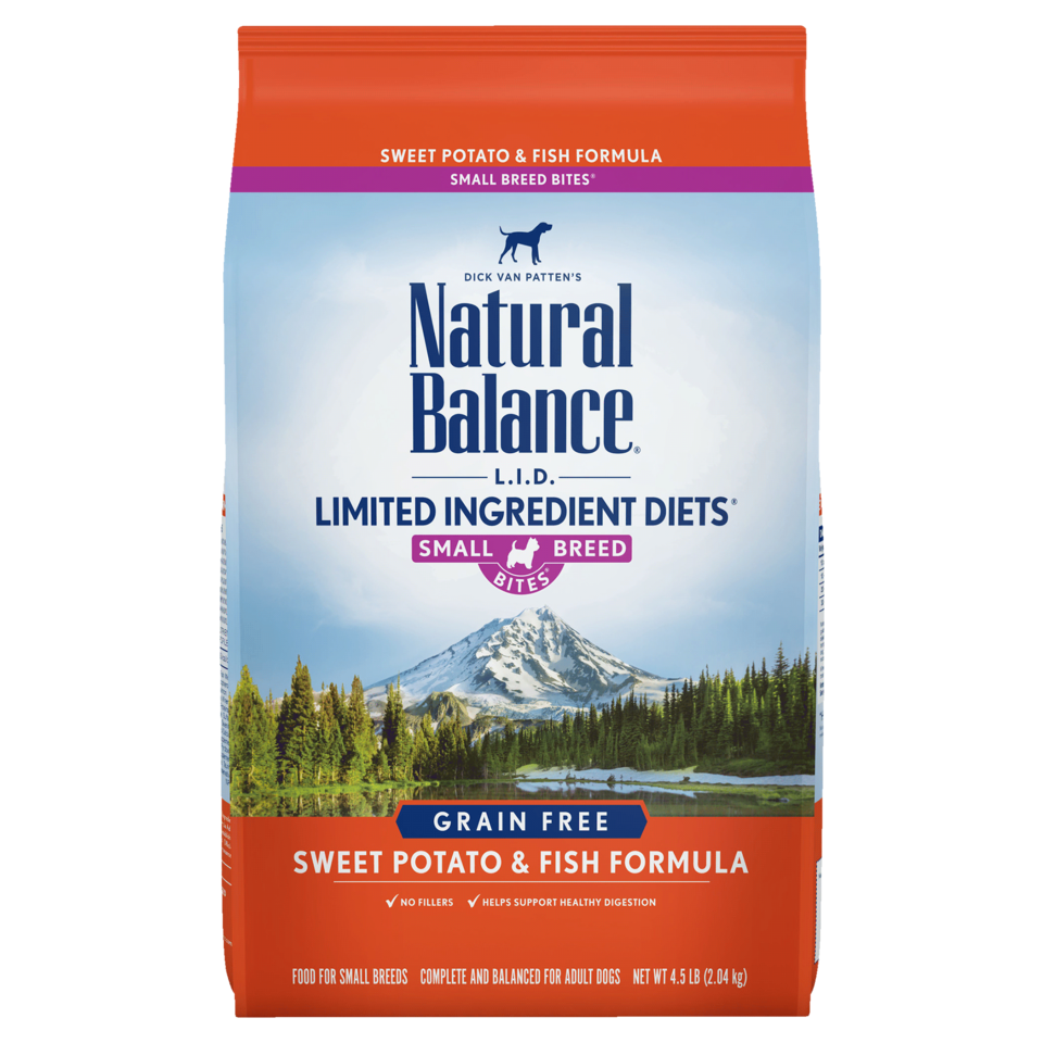 Natural Balance Kibble Grain Free Dog Food LID Fish Small Bites