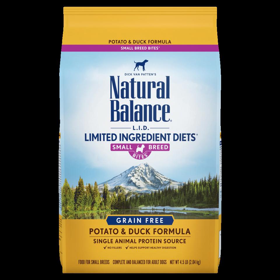 Natural Balance Kibble LID Grain Free Dog Food Duck Small Bites