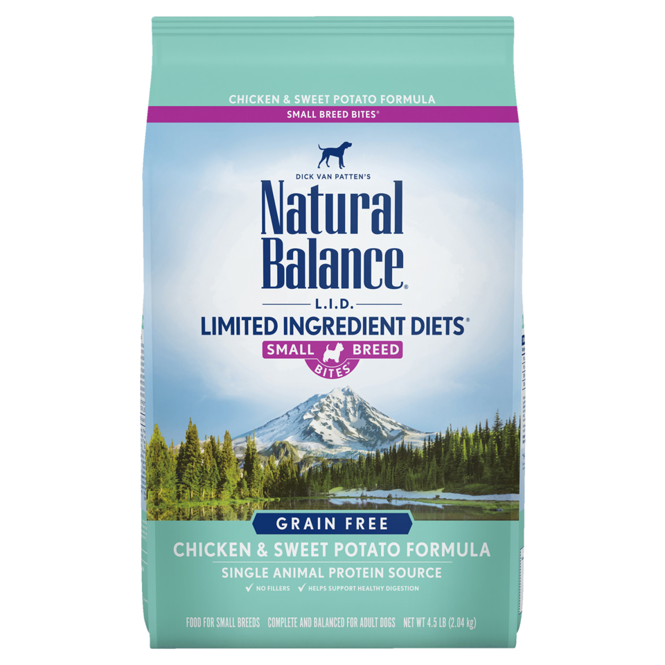 Natural Balance Kibble Grain Free Dog Food LID Chicken Small Bites