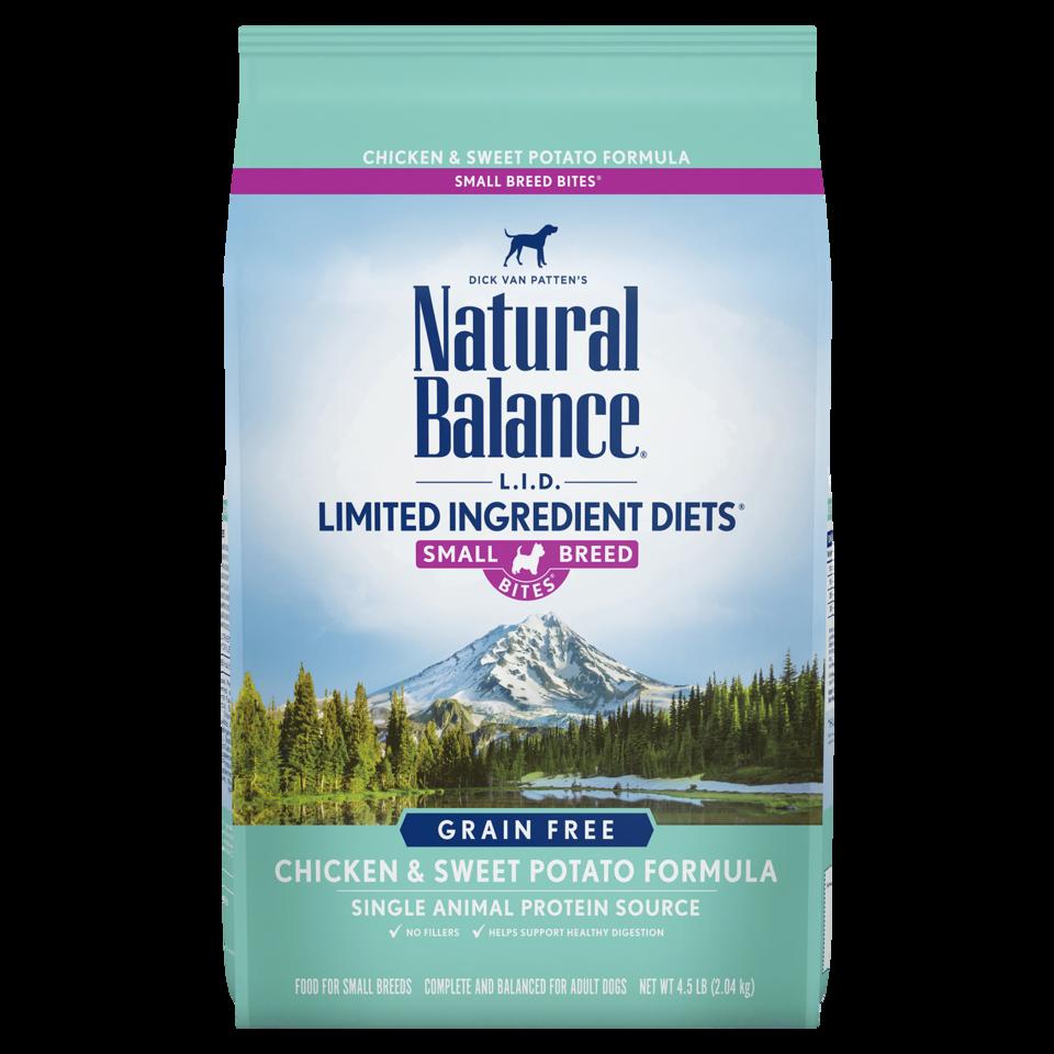 Natural Balance Kibble LID Grain Free Dog Food Chicken Small Bites
