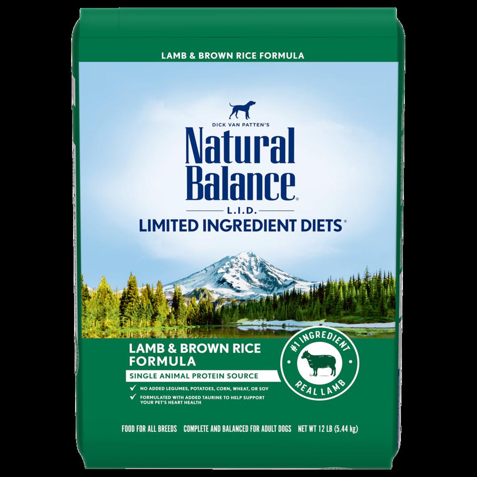 Natural Balance Kibble With Grain Dog Food LID Lamb